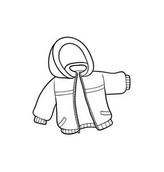 flat baby kid jacket vector image