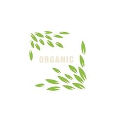 Leaf Frame Without Border Organic Product Logo vector image