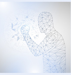 lines connected to success symbolizing vector image
