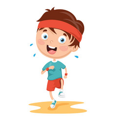 of athlete kid vector image vector image