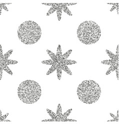 seamless pattern with silver glitter textured vector image