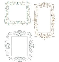 Set of vintage frames vector image vector image