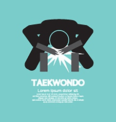 Taekwondo Asian Sport Symbol vector image vector image