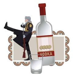 Vodka solider vector image
