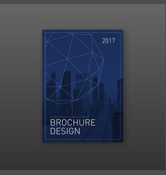 annual report brochure cover design template vector image