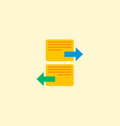 Arrange task icon flat element vector