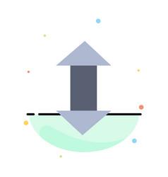arrow arrows up down abstract flat color icon vector image