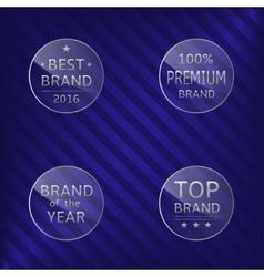 Best brand labels vector