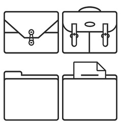 Business cases and folders vector