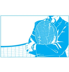 Businessman and tennis vector
