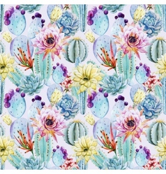 Cactus seamless patterns vector