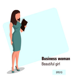 character beautiful business woman 12 vector image