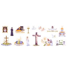 christianity holidays realistic set vector image