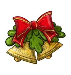Christmas bells drawing vector image