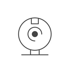 Compact disk technology icon line design vector