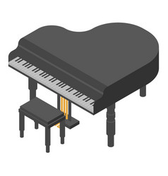 concert grand piano icon isometric style vector image