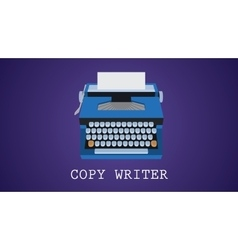 Copywriting copywriter with type vector