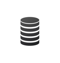 database icon hosting data symbol money or coin vector image