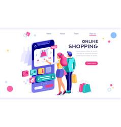 E-commerce banner items vector