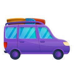 Family travel car icon cartoon style vector