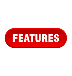 Features button features rounded red sign features vector
