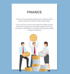 finance department poster vector image