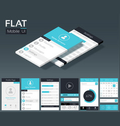 flat ui mobile design template vector image