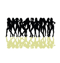 girl sexy silhouette vector image