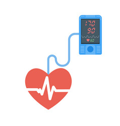 high blood pressure concept tonometr vector image