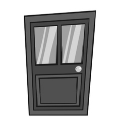 Interior door icon black monochrome style vector