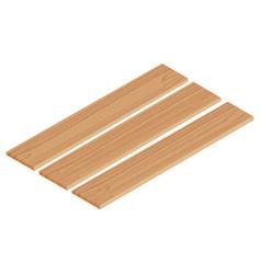Isometric wooden planks vector