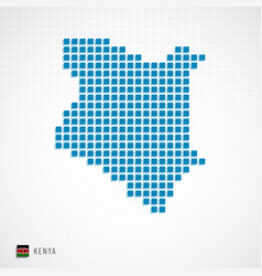 kenya map and flag icon vector image