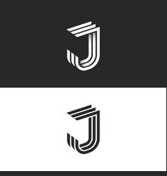 logo j letter in isometric font initial monogram vector image