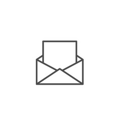 mail line icon isolated on white background vector image