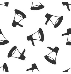megaphone icon seamless pattern on white vector image