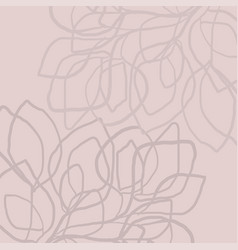 modern abstract pattern floral doodles hand brush vector image