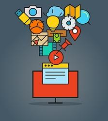 Modern web communication scheme Flat design vector
