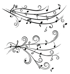 music tunes vector image