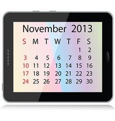 November 2013 calendar vector