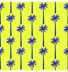 Palm tree seamless pattern botanical vector image