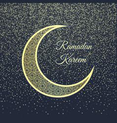 ramadan greeting card on dark-blue background vector image