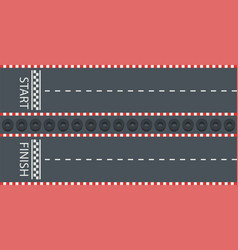 road with start and finish line vector image