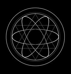 Sacred geometry symbol energy vector