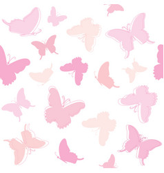 Seamless pattern background with butterflies vector