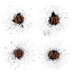 set ink blots vector image