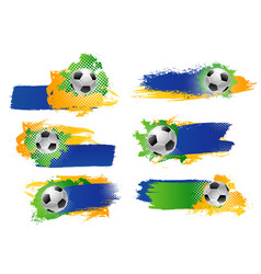 Soccer football ball sport game backdrops vector