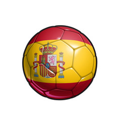 Spanish flag football - soccer ball vector