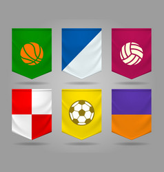 sport pennant templates vector image