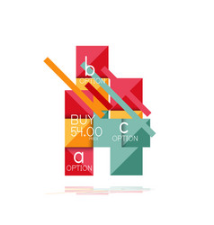 square option infographic banner data and vector image