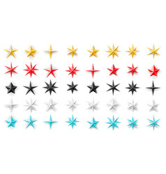stars of different geometric shapes metal foil vector image
